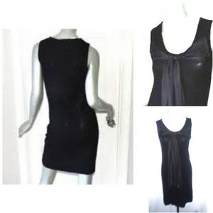 LBD Cashmere knit Black bodycon Dress NWT